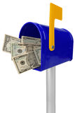 Mailbox with American money Royalty Free Stock Photo