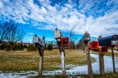 Mailbox Array Stock Photography