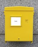 Mailbox in austria. Public yellow mailbox in austria (with free space for own text or image Stock Photography