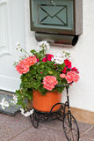 Mailbox and Bicycle decorated with flowers Royalty Free Stock Images