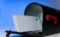 Mailbox with blank letter Royalty Free Stock Photo