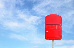 Mailbox with a blue sky Stock Photos