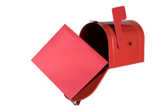 Mailbox and Card Royalty Free Stock Photos
