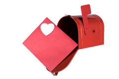 Mailbox and Card with Heart Royalty Free Stock Image
