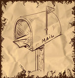Mailbox cartoon icon Royalty Free Stock Images