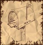 Mailbox cartoon icon Royalty Free Stock Images