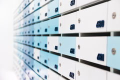 Mailbox in condo. For informations and news Stock Image