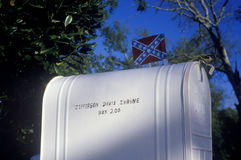 A mailbox with a Confederate flag, MS Stock Images