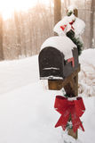 Mailbox decorated for Christmas Stock Photography