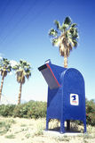 Mailbox in desert Royalty Free Stock Image
