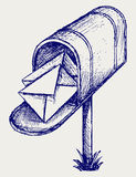Mailbox. Doodle style Stock Photo