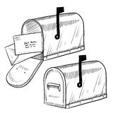 Mailbox drawing Stock Image