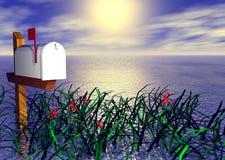 Mailbox durch das Meer Lizenzfreie Stockbilder