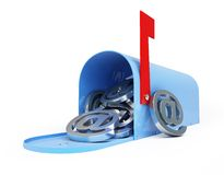 Mailbox e-mail, email, spam 3d Illustrations. On a white background Stock Photography
