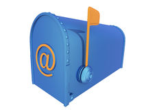 Mailbox with E-mail symbol Royalty Free Stock Image