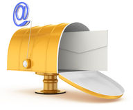 Mailbox with email  symbol Royalty Free Stock Images