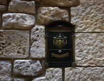 Mailbox in English style. Mdina. Valletta. Malta. Stone wall Stock Photography