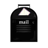 Mailbox and envelope Royalty Free Stock Photography