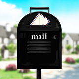 Mailbox and envelope Stock Image