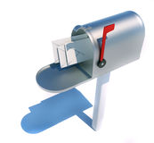Mailbox and envelopes Royalty Free Stock Image
