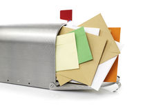 Mailbox with envelopes Stock Images