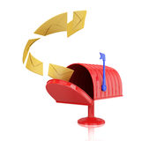 Mailbox with envelopes Stock Image