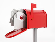 Mailbox with enveloppes Stock Photography