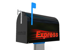 Mailbox express. Isolated on white background Royalty Free Stock Images
