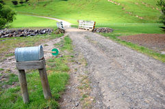 Mailbox on farm Stock Photos