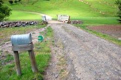 Mailbox on farm Stock Photos