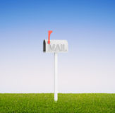 Mailbox in field Royalty Free Stock Photo
