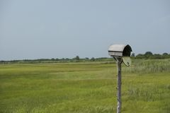 Mailbox and fields Stock Photo