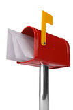 Mailbox with flag Royalty Free Stock Images