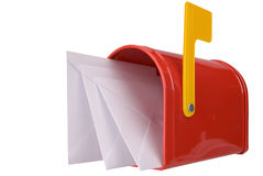 Mailbox with flag Stock Photo