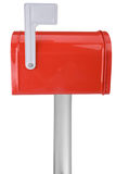Mailbox with flag royalty free stock photos