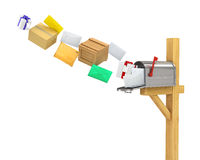 Mailbox . Mailbox (flying parcels and letters Royalty Free Stock Photography