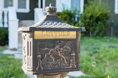 A mailbox in the United States. Stock Photography