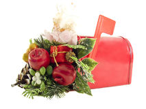 Mailbox full of gifts for Christmas Royalty Free Stock Photo