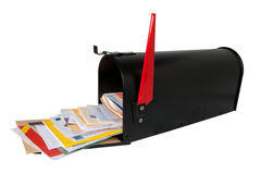 Mailbox full of mail royalty free stock photo