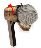 Mailbox full of money. Royalty Free Stock Image