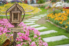 Mailbox in garden Royalty Free Stock Images