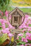 Mailbox in garden Royalty Free Stock Photos