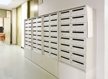 Mailbox in hallway Royalty Free Stock Images