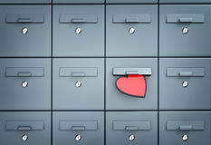Mailbox with heart - love letter Royalty Free Stock Photos