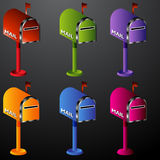 Mailbox Icon Set Royalty Free Stock Photo
