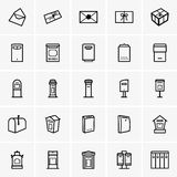 Mailbox icons Stock Photography