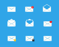 Mailbox icons set Royalty Free Stock Image