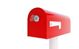 Mailbox key 3d Illustrations. On a white background Stock Photography