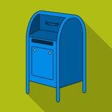 mailbox L'icône simple de courrier et de facteur dans le style plat dirigent le Web courant d'illustration de symbole illustration de vecteur
