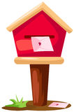 Mailbox with letter stock illustration